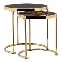 servirovaci stolik cierna gold hlavna